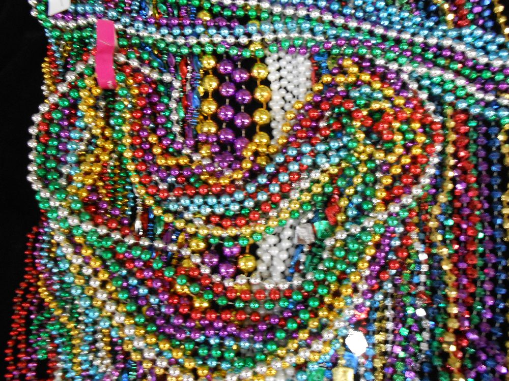Mardi Gras throw beads for Carnival parades