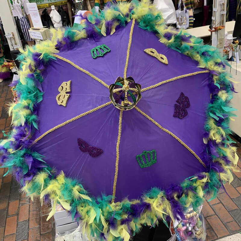 Custom Mardi Gras umbrella
