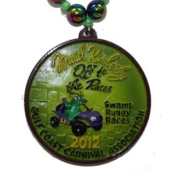 "Custom ""Swamp Ruggy Races 2012"" medallion"
