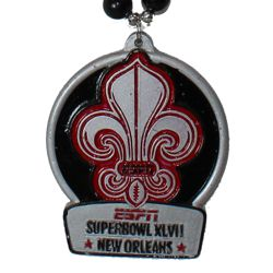"Custom ""Superbowl XLVII - New Orleans"" fleur de lis medallion"