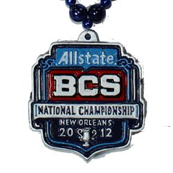 """Allstate BCS National Championship - 2012"" custom medallion"
