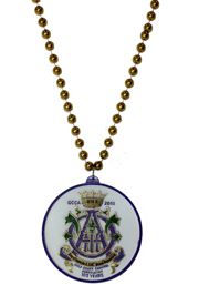 Memorial Gulf Coast Carnival Association (GCCA) custom beads