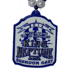 """King Neptune 2013"" custom medallion"