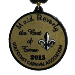 """Maid Beverly"" custom medallion for GCCA 2013 event"