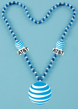 Custom hot stamped AT&T Beads