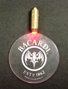 """Bacardi"" custom lightup medallion"