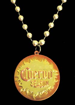 "Custom ""Cuervo Season"" medallion"