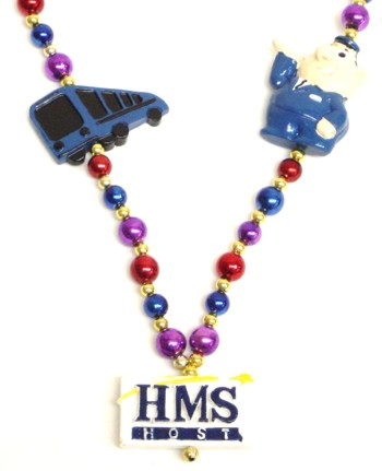"Custom beads with ""HMS"" medallion"
