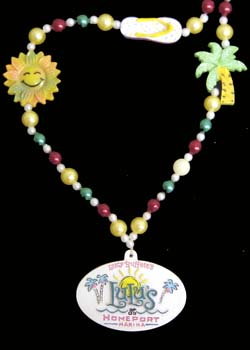 Custom tropical themed beads with medallion