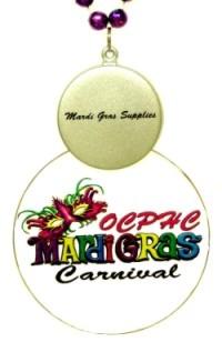 """Ocphe Mardi Gras Carnival"" custom medallion"