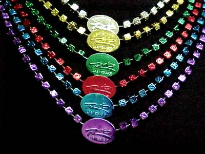 Custom beads with medallions in different colors