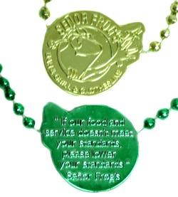 """""""Senior Frog"""" Custom beads"""