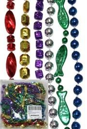 33in 6-Style Super Mix Metallic Assorted Color Beads