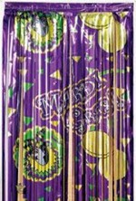 Mardi Gras Curtain Decorations