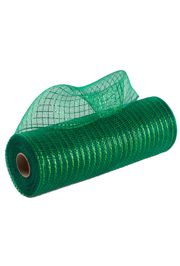 10in Wide x 30ft Long Poly Mesh Roll: Metallic Emerald Green
