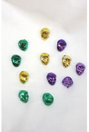 0.75in Mini 3D Mardi Gras Faces with Holes