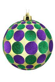 150mm Dent In Dot Glittered Ball Ornament