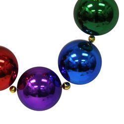 Big Balls Necklace: 60mm Rainbow Colors