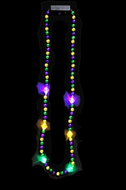 38in Mardi Gras Blinking Necklace