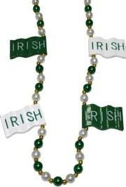 Many  St. Patrick's Day parades  around the country and world have adopted the Mardi Gras tradition of throwing  beads  from their parade floats.  We have a large selection of St. Patrick's Day Beads including an assortment of green beads, metallic green beads, beer mug necklaces, shamrock beads and shamrock medallions, Irish Flag beads, leprechaun beads, and more.