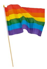 Often used in Rainbow Pride parades.