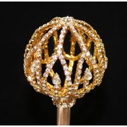 19in Long Gold Rhinestone Scepter