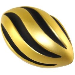 7in Long Black/ Gold Foam Spiral/ Swirl Footballs