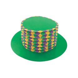 Mardi Gras Accordion Party Top Hat