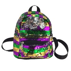 Mardi Gras Sequin School/ Travel Mini/Small Backpack