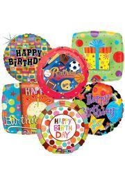We have a large selection of mylar and latex HAPPY BIRTHDAY balloons.