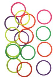5mm Assorted Colors Plastic Bangle Bracelets
