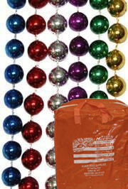 12mm 48in Round 6 Assorted Color Beads with zipper bag