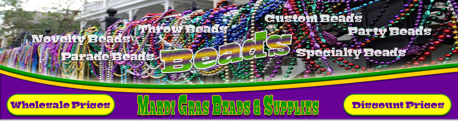 Mardi Gras Beads  for All Holiday Parades & Parties!