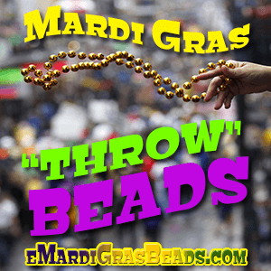 Mardi Gras Throw Beads are the must for all carnival parade krewes