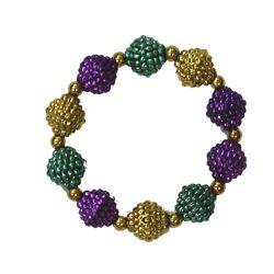 Mardi Gras Berry Bracelet