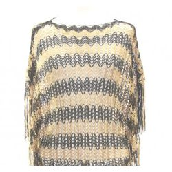 Black and Gold Poncho