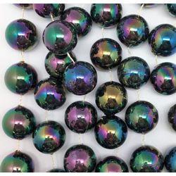 48in 22mm Black AB/ Iridescent Beads