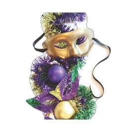 39in Wide x 74in Tall Mardi Gras Party Masks Cardboard Stand-Up