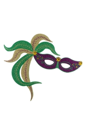20in Tall x 23in Wide Mardi Gras Mask Foam Board