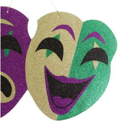 16.5in Tall x 27in Wide Mardi Gras Comedy/ Tragedy Faces Foam Board