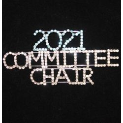 Rhinestone Committee Chair Pin