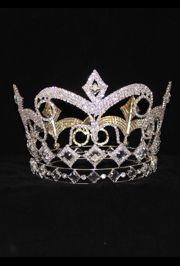 6in Tall x 6in Wide Rhinestone Fully Round Crown