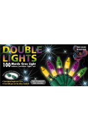 33ft 100 Count Double Mardi Gras Lights