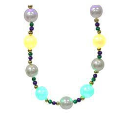 42in 25mm 6 LED Light up Mardi Gras Necklace