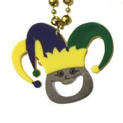 36in Mardi Gras Jester Bottle Opener Necklace