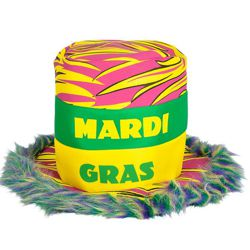 Mardi Gras Top Hat with Fur