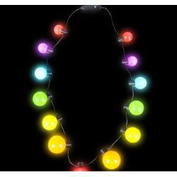 28in Long Light-up Rainbow Ball Necklace