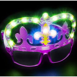 Light-up Mardi Gras Shades/ Sunglasses