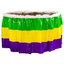 29in x14ft Pleated Mardi Gras Table Skirting