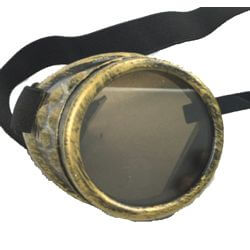 Gold Steampunk / Day of the Dead Glasses